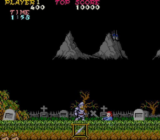 Ghosts and Goblins Famous Arcade Game