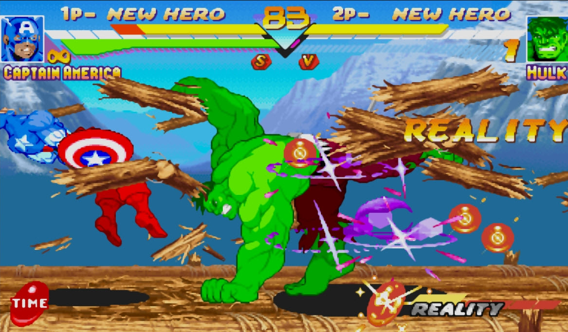Marvel V's Capcom 90's arcade fighter