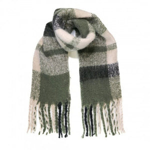 The Quiet Man Large Scarf - Green checks