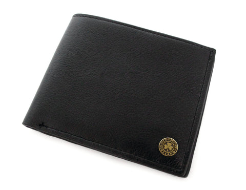 Man of Aran Leather Wallet Black