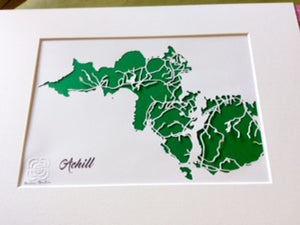 Achill Papercut Art Blue