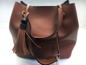 Anna Grace Handbag Black/Brown