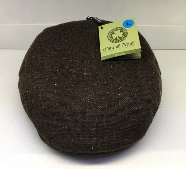 C20 Tweed Flatcap Brown