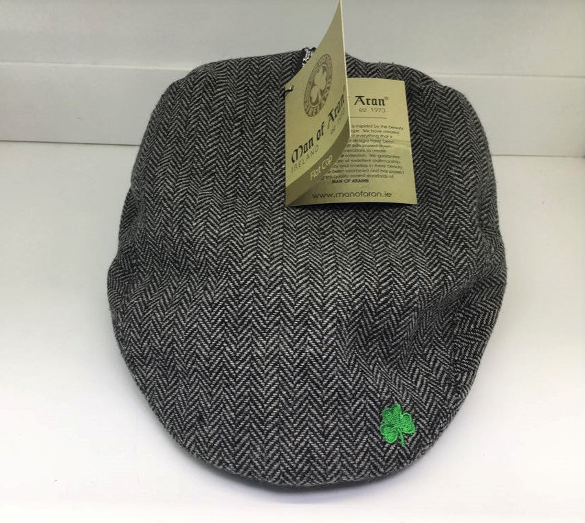 Grey Man of Aran Flat Cap