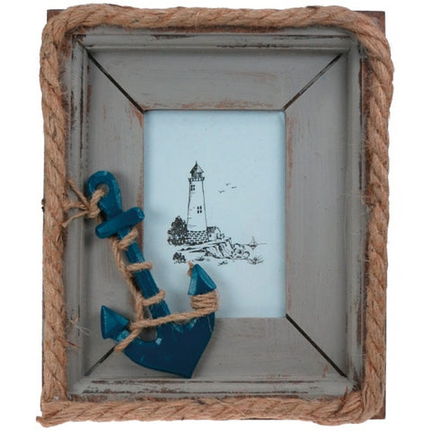 Anchor with Rope Photo Frame