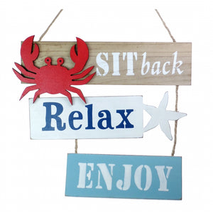 Relax Hanging Sign
