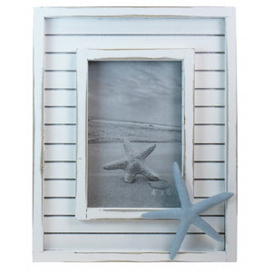 Beach Hut with Starfish Photo Frame