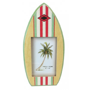 Wooden Surfboard Photo Frame