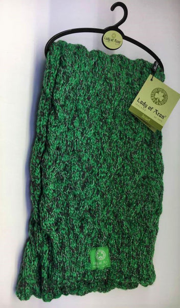 C20 Lady of Aran Forest Green Blend Scarf