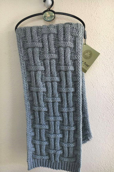 Man of Aran Basket Weave Scarf