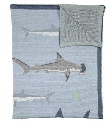 Throw Organic Cotton Shark