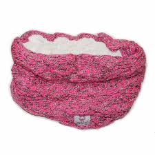 Lady of Aran pink blend snood