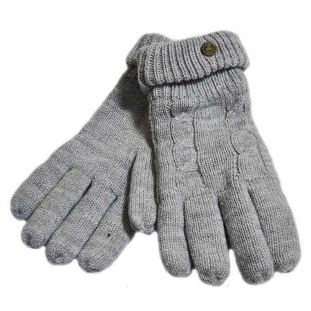 Man of Aran Dark Grey gloves small