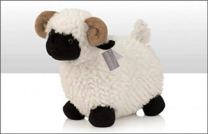 Soft Toy Horned Sheep Standing 30cm