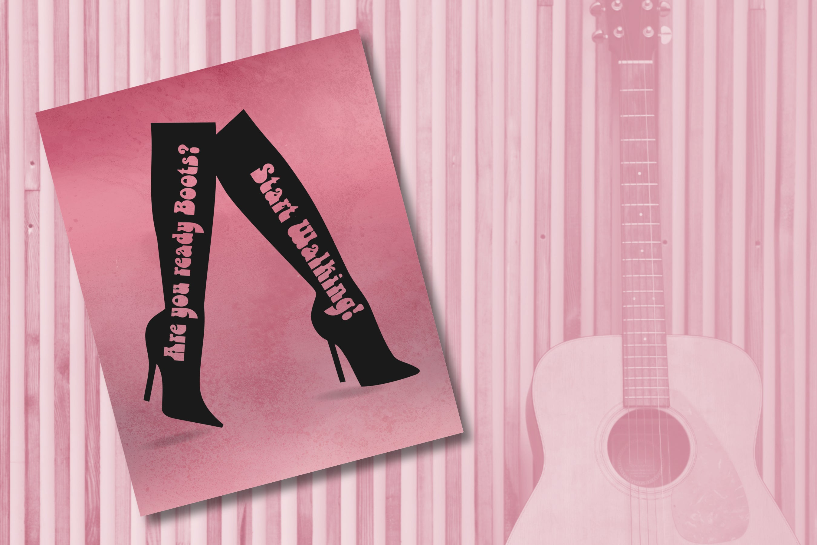 Rock and Roll Music Lyrically Inspired Wall Prints and Music Posters