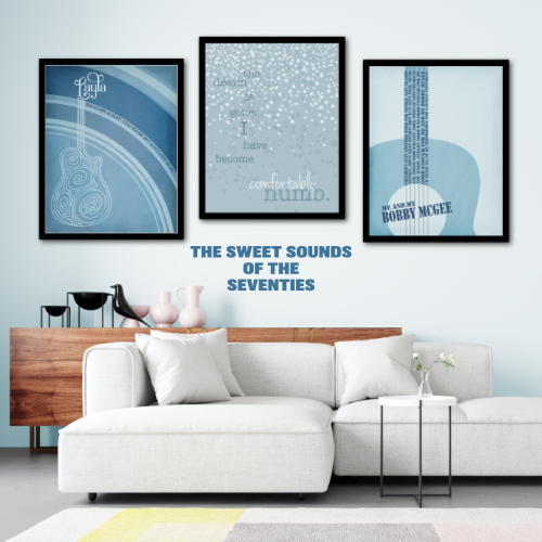 Song Lyric Print Music Gifts of the Sweet Sounds of the Seventies