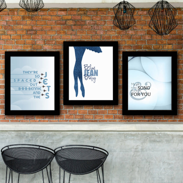 Music Lovers Gift Song Lyrics Art - Bennie and the Jets by Elton John