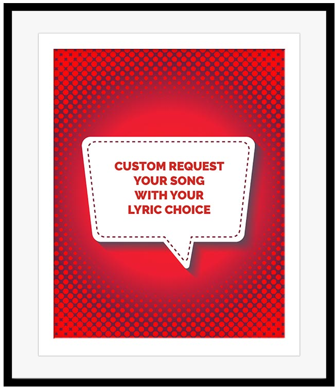 Your Own song lyrics art wall decor music gift for music enthusiasts