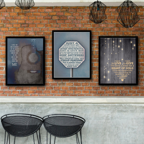 Don't Stop Believin' by Journey Song Lyric Wall Art Print Poster for Classic Rock Music Enthusiasts