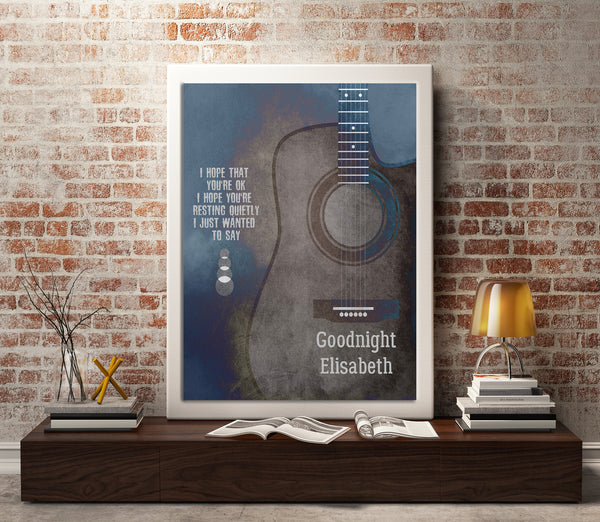 Goonight Elisabeth by the Counting Crows Song Lyric Art Poster Wall decor