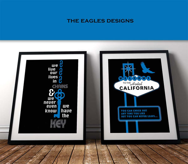 Hotel California the Eagles Lyrical Keepsake Artwork
