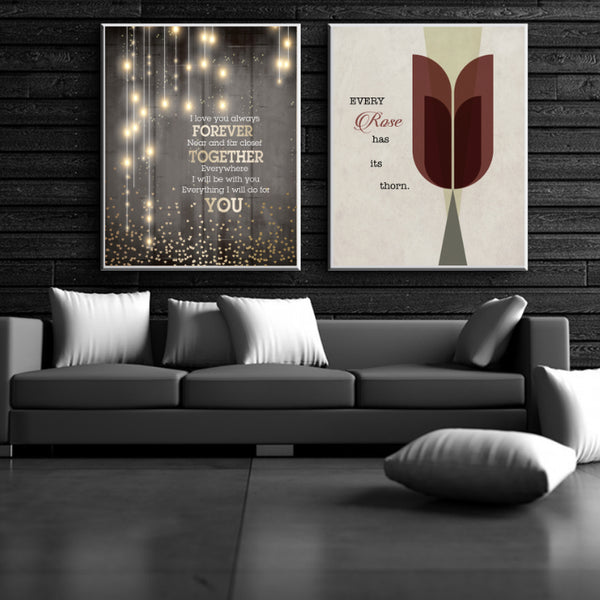 I Love You Always Forever - Donna Lewis Song Lyric Inspired Poster Print Decor