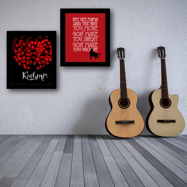Song Lyrics Art Music Quote Poster Canvas - Black Dog by Led Zeppelin