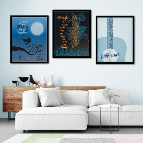 maybe i'm amazed paul mccartney song lyrics art poster print illustration