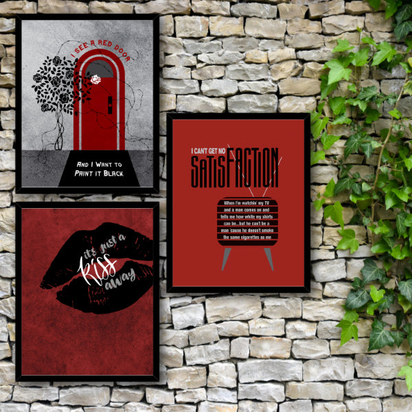 Classic Song Lyrics Art - Gimme Shelter by the Rolling Stones