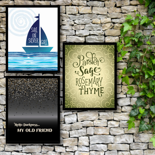 The Sound of Silence by Simon and Garfunkel - Song Lyric Inspired Abstract Music Wall Art