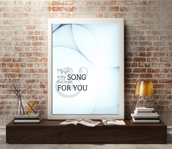 Your Song by Elton John Song Lyric Artwork Illustration