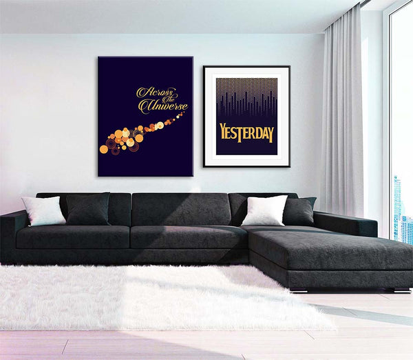 Across the Universe beatles song lyric art print poster
