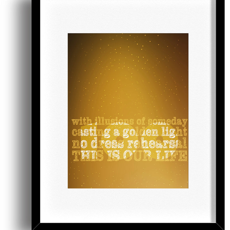 Ahead by a Century by the Tragically Hip Song Lyric Art Print Music Poster Wall Art Decor