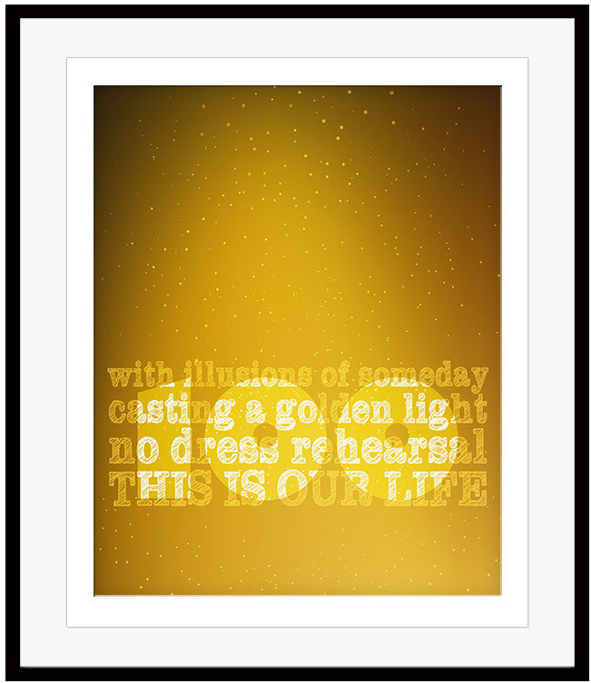 Ahead by a Century by the Tragically Hip Song Lyric Art Poster Music Gift Memorabilia