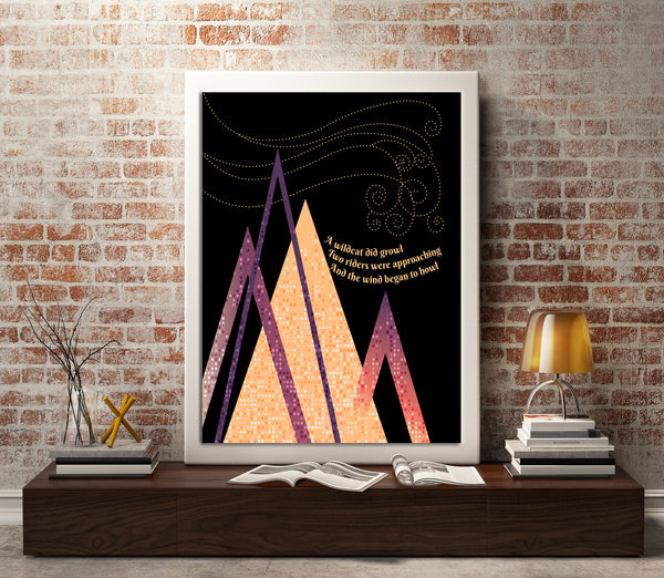 All Along the Watchtower Jimi Hendrix Lyrical Geometric Design