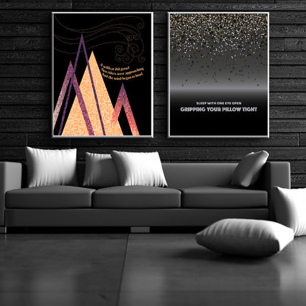 All Along the Watchtower by Jimi Hendrix Wall Lyric Music Poster Art Decor Print