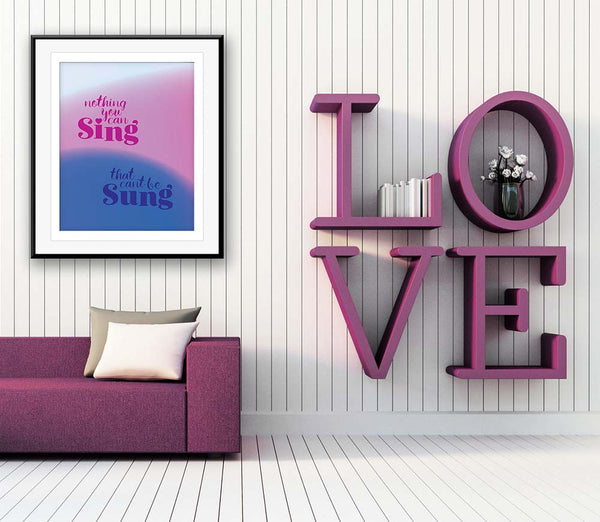 all you need is love beatles art lyric poster print