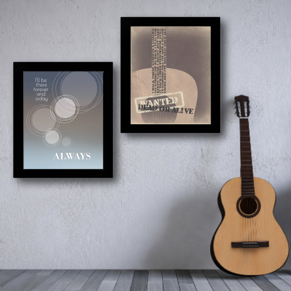 Always by Bon Jovi Song Lyric Art Poster Print Gift for Music Enthusiasts