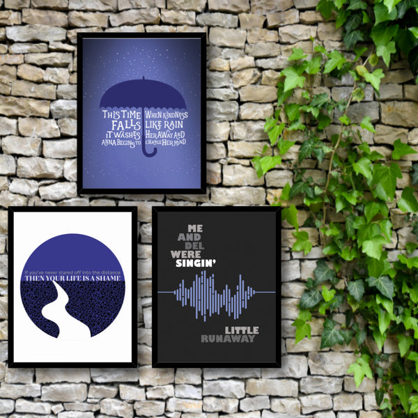 Mrs Potters Lullaby - Song Lyrics Wall Art Print - Counting Crows Music