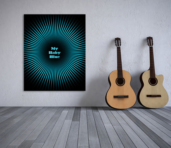 Baby Blue by Badfinger Song Lyrics Art Print Poster Wall Decor