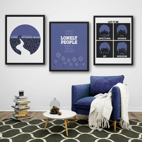 Eleanor Rigby by the Beatles Song Lyric Print Wall Music Quote Poster