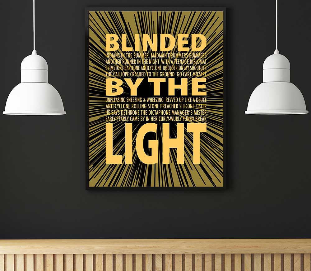 Details About Song Lyric Art Music Quote Print Poster Blinded By The Light By Manfred Mann