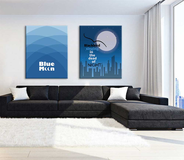 blue moon the marcels music lyric artwork design poster print