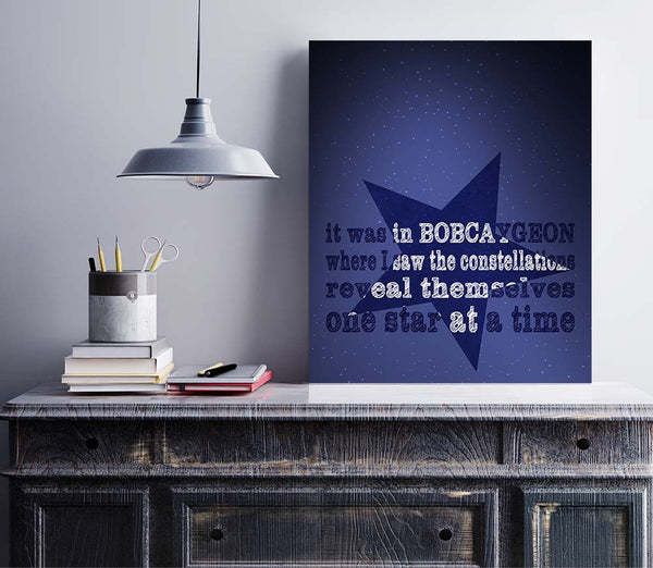 Bobcaygeon by The Tragically Hip Song Lyrics Art Print Poster Illustration