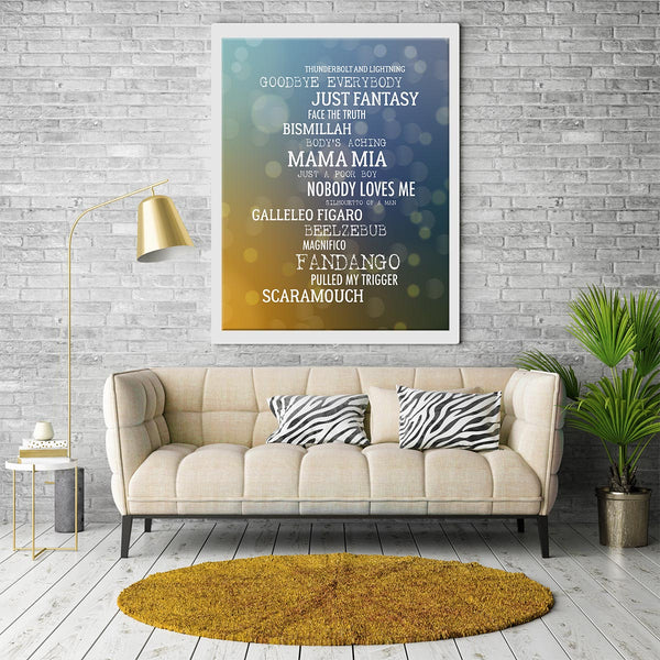 Bohemian Rhapsody by Queen Song Lyrics Music Poster