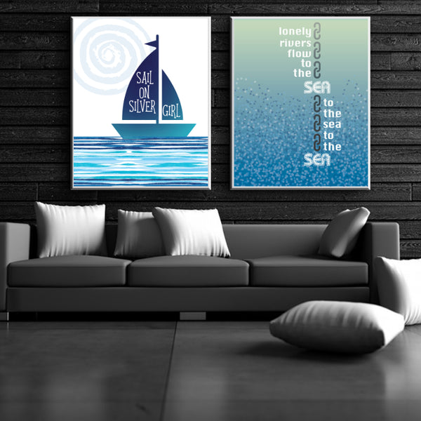 Unchained Melody by the Righteous Brothers - Love Song Lyric Art Print Wall decor