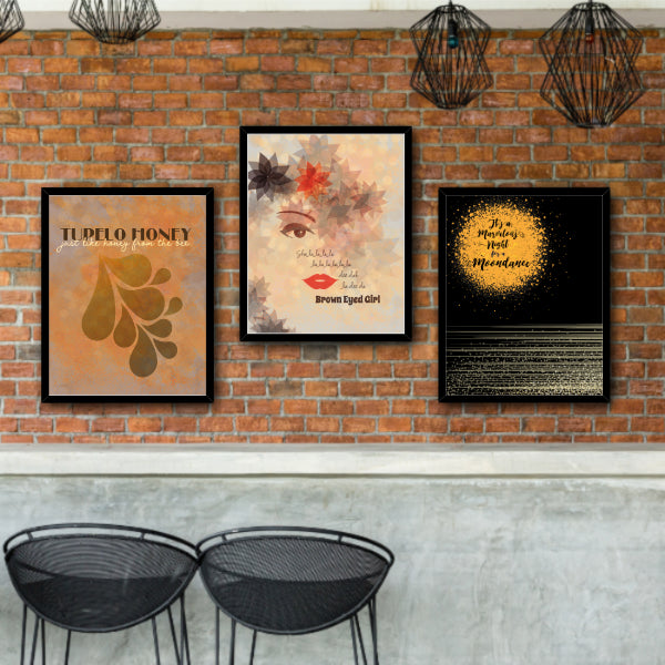 Moondance by Van Morrison - Music Quote Song Lyric Art Poster