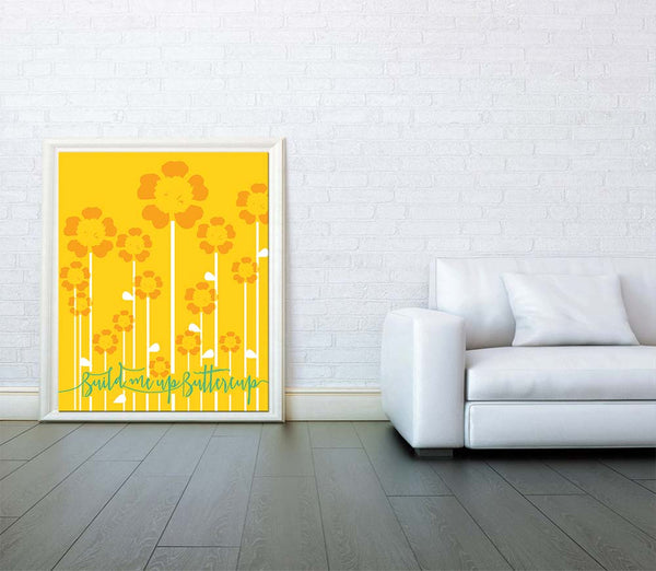 Build me Up Buttercup The Foundations Song Lyric Music poster gift Print