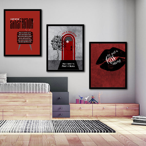 an't Get No Satisfaction by the Rolling Stones Song Quote Music Poster Wall Art