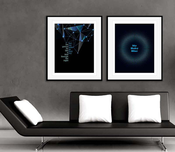 baby blue by badfinger music lyric poster art